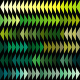 Green tones triangles background. Over black Royalty Free Stock Photos