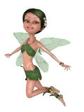 Green toon fairy Royalty Free Stock Images