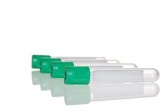 Green Top Test Tube Royalty Free Stock Images