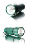 Green torch isolated on white background Stock Images