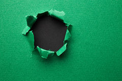 Green torn paper Stock Image