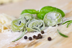 Green tortellini Stock Photo
