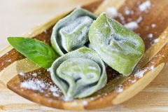 Green tortellini Stock Photos