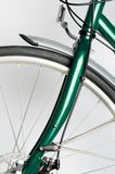 Green Touring Bicycle Royalty Free Stock Images