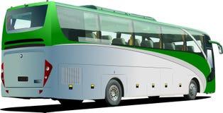 Green Tourist bus. Coach Stock Photo