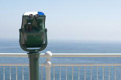 Green tourist telescope Royalty Free Stock Photography