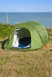 Green touristic tent Royalty Free Stock Images