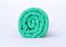 Green towel Royalty Free Stock Images