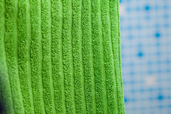 Green towel Stock Images