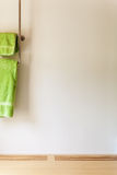 Green towel Royalty Free Stock Photography