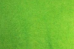 Green towel textural surface Royalty Free Stock Image