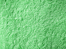 Green towel texture Stock Image