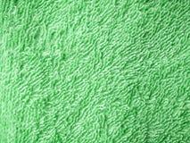 Green towel texture Stock Image
