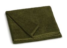 Green towel Stock Photo