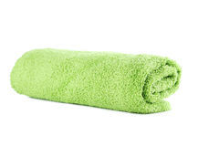 Green towel Stock Photos