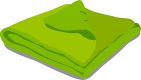 Green towel on white background Stock Photos