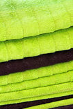 Green towels Stock Image
