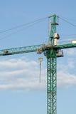 Green tower crane closeup Royalty Free Stock Photography
