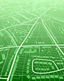Green town. Editable vector illustration of a generic green street map without names Stock Photo