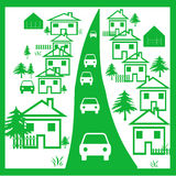 Green Town Royalty Free Stock Images