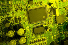 Green toxic circuit Royalty Free Stock Photos
