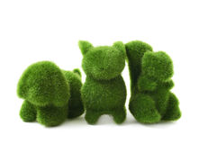 Green toy animals isolated Royalty Free Stock Photo