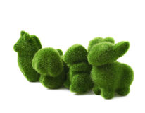 Green toy animals isolated Stock Images