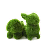 Green toy animals isolated Stock Photography