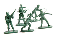 Green toy army royalty free stock image