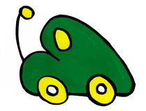 Green toy car Stock Photos