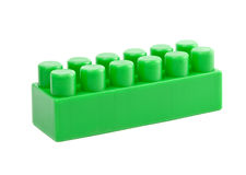 Green toy cube Royalty Free Stock Photos