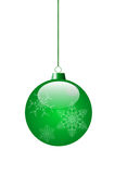 Green toy. For decoration of a Christmas fir-tree. vector EPS 10 Stock Photos