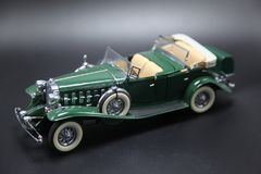 Vintage 1950`s  Green Sports Car Model Royalty Free Stock Images