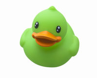Green Toy Rubber Duck Stock Photos