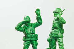 The green toy soldier Royalty Free Stock Photography