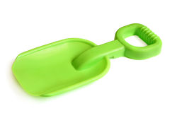 Green toy spade Royalty Free Stock Images