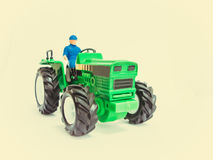 Green toy tractor Royalty Free Stock Photo