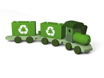 Green toy train Stock Image