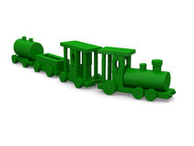 Green toy train Stock Photography