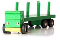 Green toy truck Royalty Free Stock Images