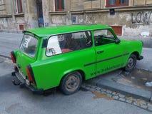 Green Trabant car Stock Photo