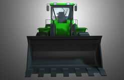 Green Tractor. Illustration of a green colored bull dozer Royalty Free Stock Image