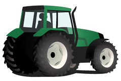 Green tractor. Vector illustration of a green tractor an agricultural machinery isolated on white background Royalty Free Stock Photography