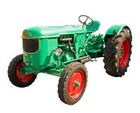 Green tractor stock photo