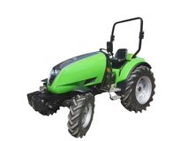 Green tractor stock images