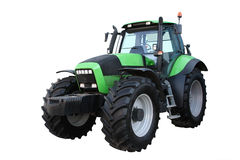 Green tractor. Separately on a white background Royalty Free Stock Photo