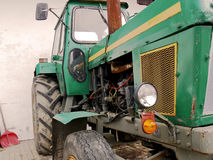 Green tractor. Closeup of a green farm tractor Royalty Free Stock Photography