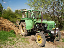 Green tractor Royalty Free Stock Photography