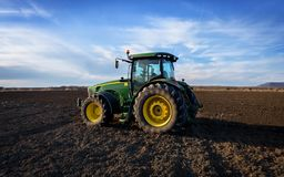 Free Green Tractor And Blue Sky. Stock Photo - 138279580