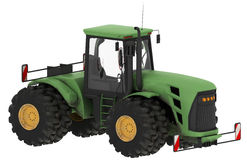 Green tractor with cab Stock Image